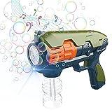 CAMFUN Máquina de Burbujas para Niños,Pistola Pompas Jabón,Mecanismo de Soplado...