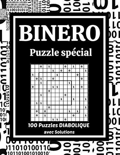 BINERO - Puzzle Spécial: 100 puzzles Diabolique avec Solutions | Grille 14x14 |