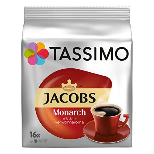 Tassimo Monarch, Verwöhnaroma, Kaffee, Kaffeekapsel, gemahlener Röstkaffee, 16 T-Discs / Portionen