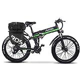 Bicicleta eléctrica ALFINA bicicleta de montaña 1000W26 pulgadas neumático gordo batería de litio plegable playa bicicleta eléctrica moto de nieve adulta mujer / hombre