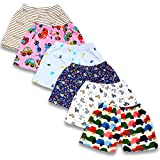 BAYBEE Baby Cotton Pyjama Shorts Bottom-Pack of 6 Assorted Colours&Cute Prints May Vary Sleep Boxer-Pyjama for Boys and Girls-Bermuda Shorts for Kids Track Shorts Combo Pack Multicolored (6-9 Months)