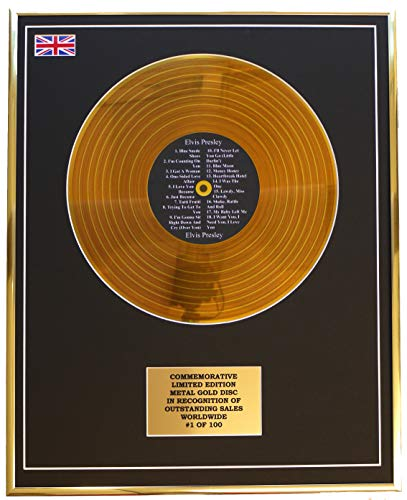 Everythingcollectible Elvis Presley - Elvis Presley/Metall Gold Disc Display Gedenk Limited Edition