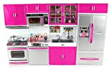 Doll Playsets My Modern Kitchen 32 Full Deluxe Kit with Lights and Sounds, 21 x 13.8 x 4 -Inches