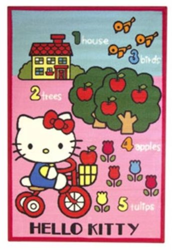 Fun House - Tapis Hello Kitty Jardin 120x 80xcm