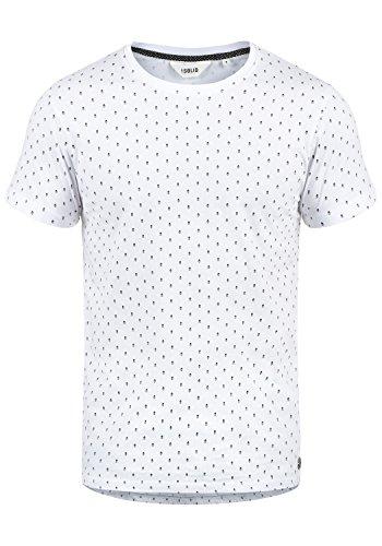 !Solid Aaron Herren T-Shirt Kurzarm Shirt Mit Rundhals-Ausschnitt Und All-Over-Print, Größe:XL, Farbe:White (0001)