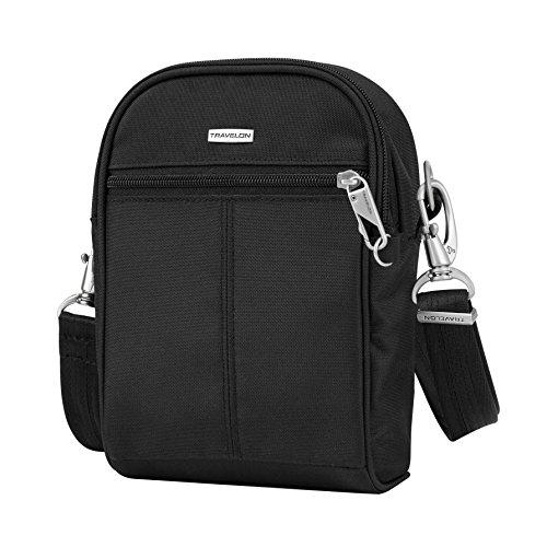 Travelon Anti-Theft Classic Convertible Small Tour Bag, Black