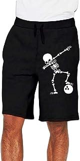 Dab Skeleton Dabbing Bowling Ball Pants Men`s Sports Trousers Running Workout Shorts