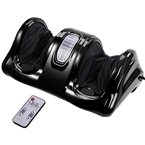 AW Shiatsu Foot Massager Kneading and Rolling Leg Calf Ankle with Remote Control Personal Home Health Care Black for Father Gift
