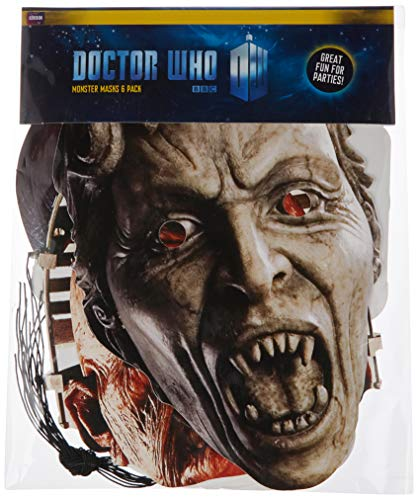 STAR CUTOUTS - Stsmp70 - 6 Masques pour Adulte Personnages - Doctor Who - Taille Unique