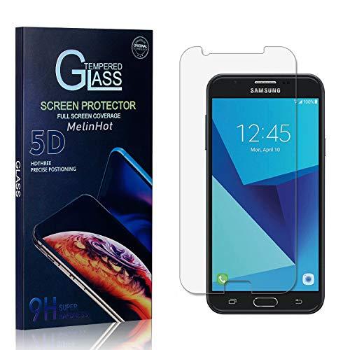 MelinHot Displayschutzfolie für Galaxy J7 Prime/Galaxy On 7, 9H Härte Schutzfilm aus Gehärtetem Glas, Anti Bläschen Displayschutz Schutzfolie für Samsung Galaxy J7 Prime/Galaxy On 7, 1 Stück