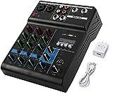 Patioer 4 Channels Mini USB Audio Mixer Amplifier Console bluetooth Recording Phantom