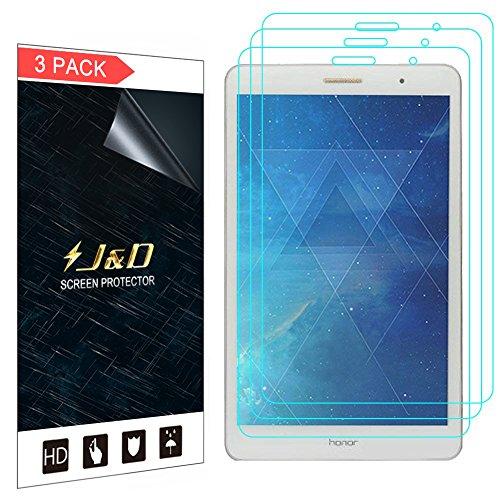 J&D Compatible para 3 Paquetes MediaPad T3 8.0 Inch Protector de Pantalla, [NO Cobertura Completa] Prima Escudo de Película Transparente HD Protector de Pantalla para Huawei MediaPad T3 8.0 Inch