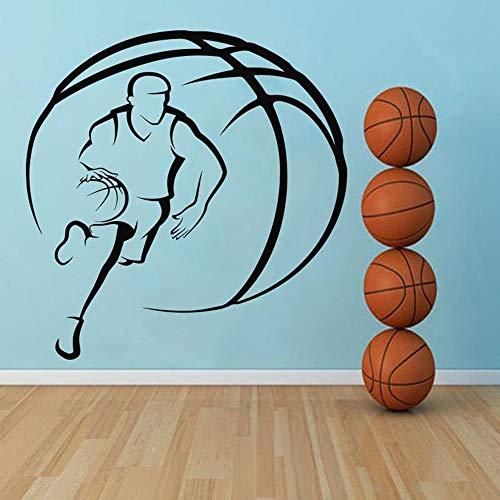 TYLPK Vinyl Basketball Wandaufkleber Home Decoration Zubehör Schwarz 31x30cm