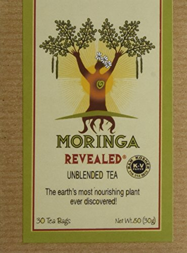 Moringa Tea - 100% Unblended (Hi-Potency) Kosher Certified African Grown 30 count