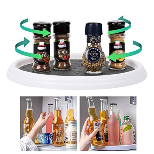 Hidyliu Lazy Susan Gabinete de despensa giratorio de 360 grados, antideslizante, estante giratorio para especias de cocina, soporte para condimentos, organizador para botellas de sabores