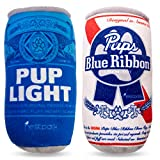 Pup Light and Pups Blue Ribbon - Funny Dog Toys - Plush Squeaky Dog Toys for Medium, Small and Large - Cute Dog Gifts for Dog Birthday - Cool Stuffed Parody Dog Toys (2 Pack) (Mix)