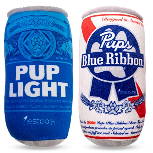 Pup Light and Pups Blue Ribbon - Funny Dog Toys - Plush Squeaky Dog Toys for Medium, Small and Large...