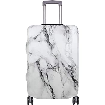 Rose Gold Marbled Road Travel Luggage Protector Case Suitcase Protector For Man/&Woman Fits 18-32 Inch Luggage