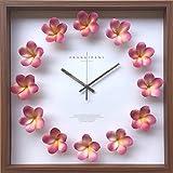 伸和(SHINWA) 掛け時計 ピンク 幅42.5×奥行き5.5×高さ42.5(cm) CPC-52451