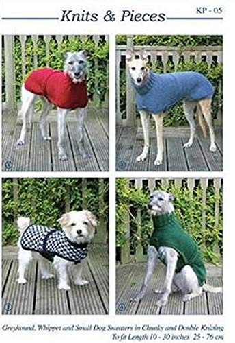 Knits & Pieces Knitting Pattern : Whippet, Greyhound and Small Dog Coats