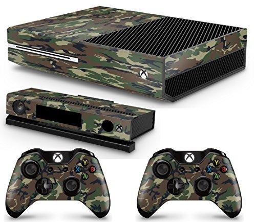 giZmoZ n gadgetZ GNG Xbox One Konsolen-Gehäuseaufkleber, Motiv: Tarnung inklusive 2er-Set mit Aufklebern für Controller