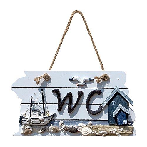 Mooi houten bord om op te hangen aan de wc-deur, wanddecoratie, 1 stuk