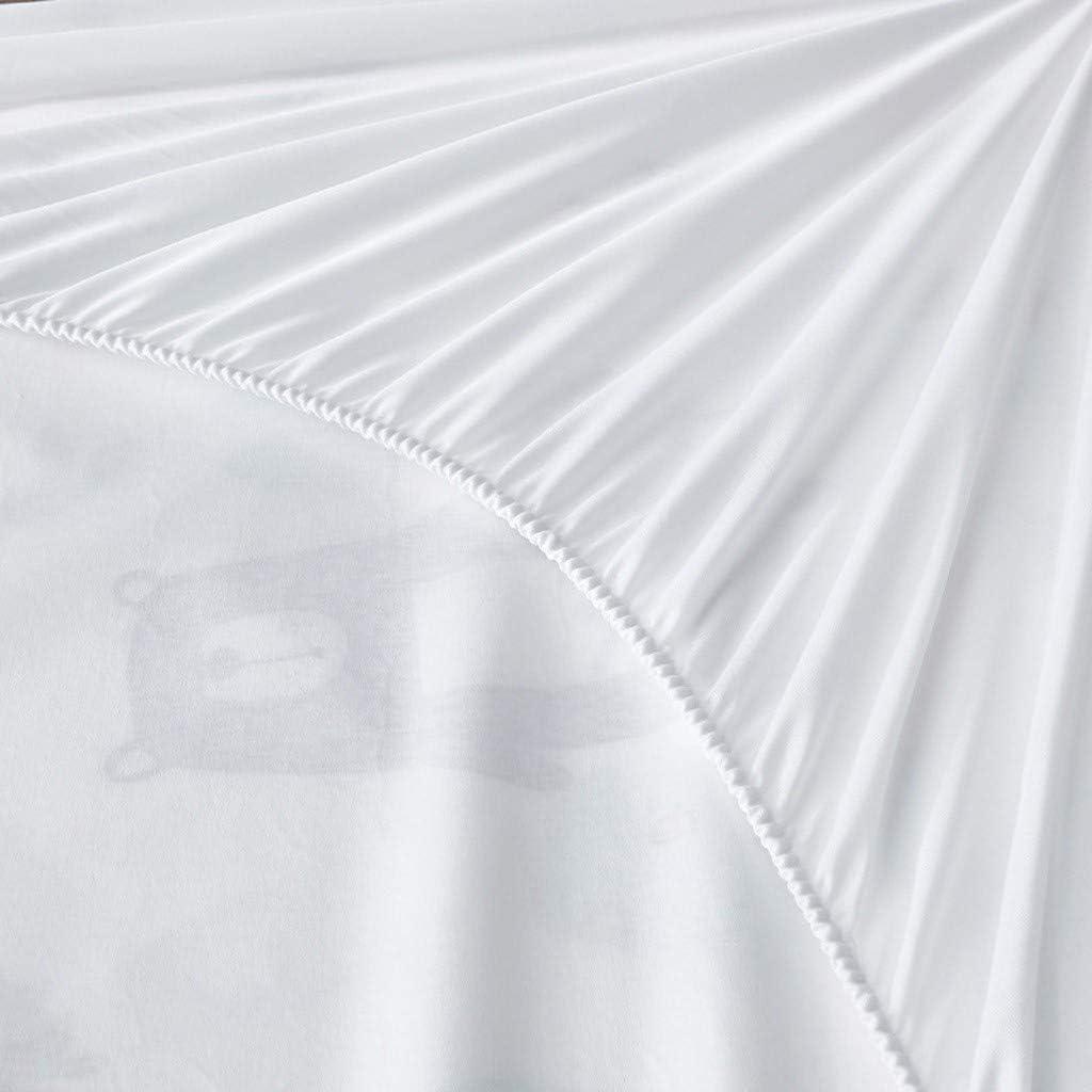Protecteur Housse De Matelas, Hypoallergénique Poche Profonde Imperméable Et Respirante Protect For Acariens Polyester (Color : CC) Bb
