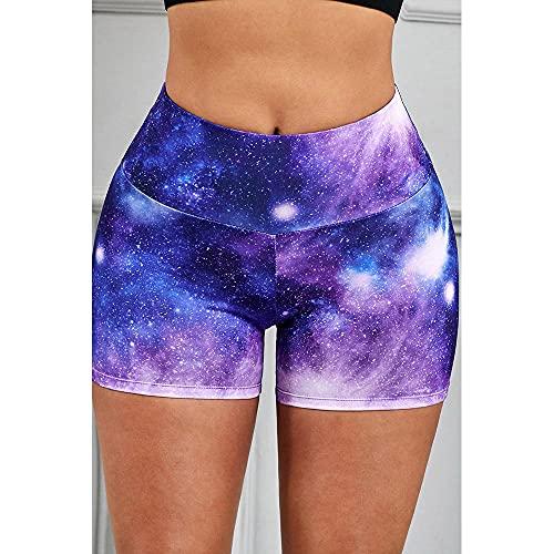 ArcherWlh Leggings Mujer Push Up,Cruz-Frontera Nuevo Yoga Europeo Shorts Femenino Amazon Imprimir Alto Elástico Transpirable Fitness Pantalones-púrpura_Metro