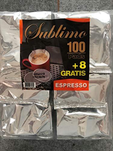 SUBLIMO MEGABEUTEL KAFFEE PADS ESPRESSO FÜR SENSEO U.A. - 108 PADS PRO BEUTEL (6 Beutel - 648 Pads)