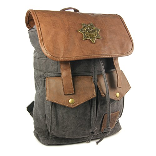 The Coop Walking Dead Rick's Sheriff Backpack-Black