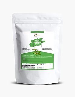 mGanna 100% Natural and Pure Tulsi Panchang Powder Holy Basil Powder (Ocimum Sanctum) for Health Hair and Skin