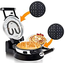 Secura Upgrade Automatic 360 Rotating Non-Stick Belgian Waffle Maker w/Removable Plates