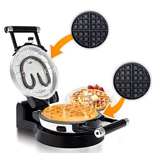 Secura Upgrade Automatic 360 Rotating NonStick Belgian Waffle Maker w/Removable Plates