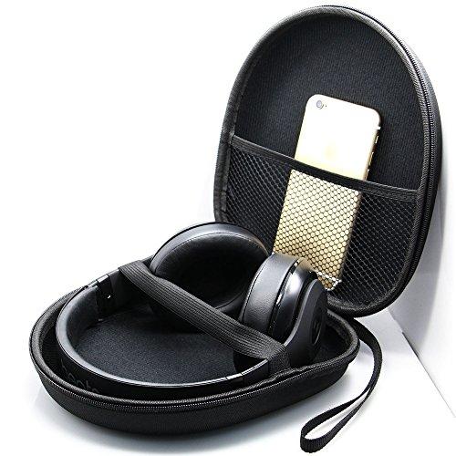 Kopfhörer Tasche für on Ear/Over Ear Headset, Ohrhörer Schutzhüllen Hülle, 21 x 18.5 x 6cm, schwarz