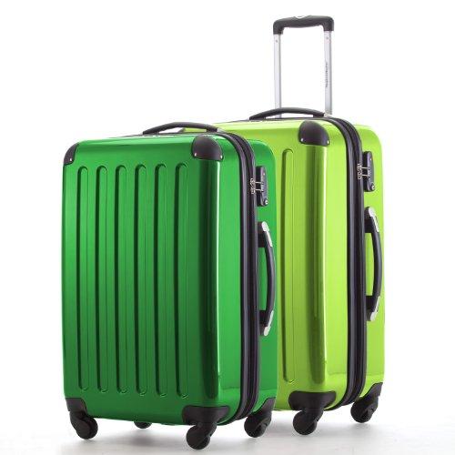 HAUPTSTADTKOFFER - Alex - 2er Koffer-Set Hartschale glänzend, TSA, 65 cm, 74 Liter, Grün-Apfelgrün