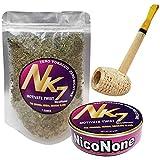 Missouri Meerschaum Pipe & NicoNone Herbal Smoking Blend 20g Tin & 1 oz Refill Bag (Motivate Twist)