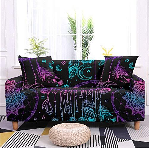 Funda de sofá elástica, de elastano, para sala de estar, antisucio, en forma de L, funda elástica para sofá de 1/2/3/4 plazas para sofás