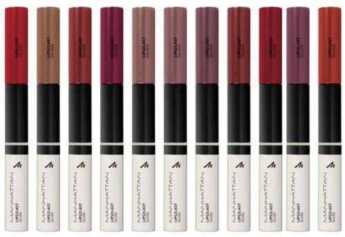Manhattan Lips2Last Colour&Gloss, Lippenfarbe und Lipgloss in einem, Farbe Soft Berry 56Q, 1 x 8ml