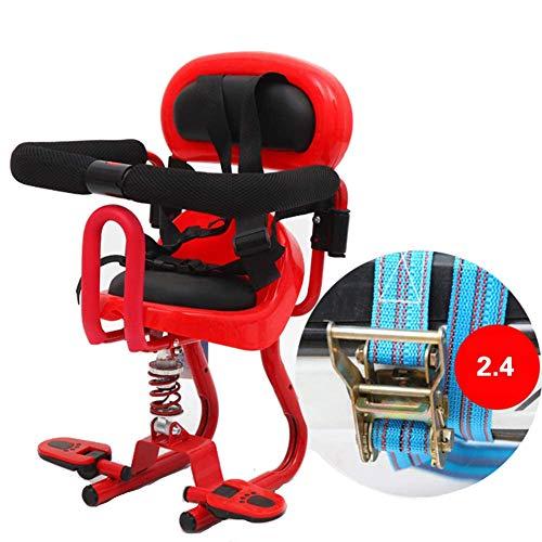 SEGIBUY Asiento de Bicicleta para niños, portabebés para niños portátil, Plegable y Ultraligero Asiento de bebé con pasamanos para Bicicletas de Crucero, Bicicletas Plegables