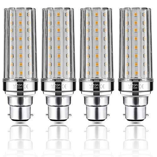 Yiizon LED M Glühbirne, B22, 20W, entspricht 150 W Glühlampe, 3000 K Warmweiß, 2000LM, B22 Bajonett Kappe LED Birne, nicht dimmbar Kandelaber LED Glühlampen 4 Stück