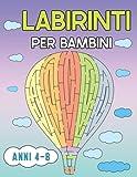 Labirinti per bambini Little Genius: Activity Book Labirinto | Workbook per Giochi di Intelligenza e Passatempi per Ragazzi, 60 puzzle, Risoluzione dei Problemi