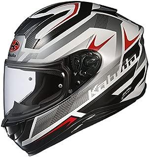 オージーケーカブト(OGK KABUTO)バイクヘルメット フルフェイス AEROBLADE5 RUSH(ラッシュ) ホワイトシルバー (サイズ:M) 576332