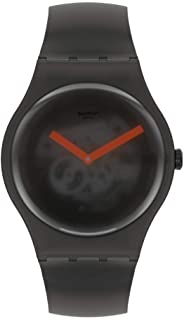 Swatch New Gent Lacquered Quartz Silicone Strap, Black, 20 Casual Watch (Model: SUOB183)