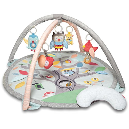 Skip Hop Treetop Friends Baby Developmental Play Mat Activity Gym, Nature Inspired Grey/Pastel Theme
