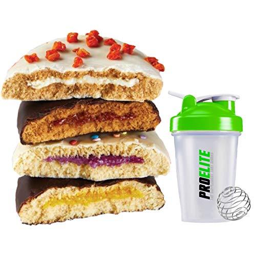 PhD Nutrition Smart Cake High Protein Low Sugar Cake 12 x 60g Vegetarian GMO Free Bar Bars + PROELITE Shaker (Mixed)