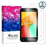 Ycloud [3 Pack] Protector de Pantalla para Vodafone Smart Mini 7,[9H Dureza/0.3mm],[Alta Definicion] Cristal Vidrio Templado Protector para Vodafone Smart Mini 7