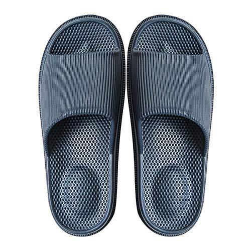 Decai Mujeres Zapatos de Piscina Chanclas de Playa para Hombre Zapatillas de Estar por Casa de Mujer Verano Baño Antideslizante EVA Masajes Playa Chanclas Sandalias Azul Oscuro 42/43 EU