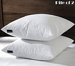 Note To Customers: For the best results these pillow inserts are recommended for 24x24 or 25x25 euro pillow covers to provide a plump and full pillow from corner to corner. 26x26 euro pillow inserts, set of 2, for use of all types of shams & covers. ...