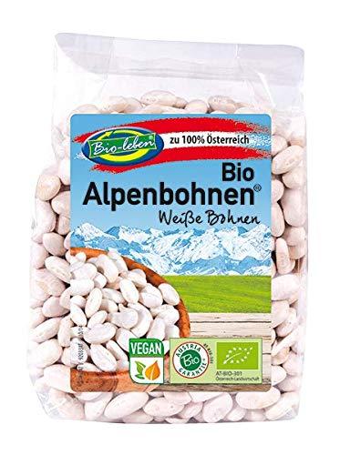 Bio weisse weiße Bohnen 100% aus Österreich 1,75kg Öko österreichische Weißbohnen, White-Kidney Bohnen extra Qualität 7x250g