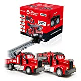 Force1 Mini Firefighter RC Trucks for Kids - 2 Pack Remote Control Car Toy Trucks Set with Mini Water Tank Fire Truck and Mini Boom Firetruck, 2.4GHz Remote Controls, Bright LEDs, and RC Toy Batteries